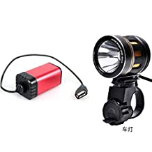 REALCERA 1000 Lumen Bike Light U2 XML2 CREE LED Bicycle Light headlamp with 4aa Battery Box(AA battery not include)