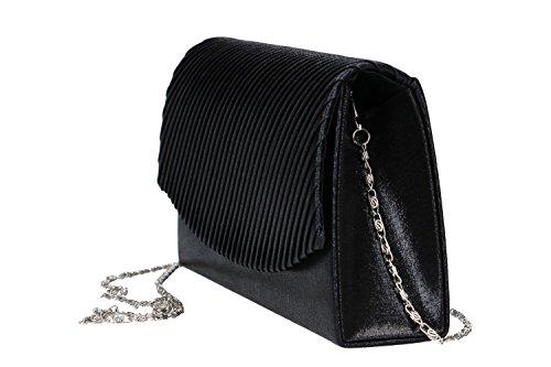 Bolsa mujer LUCA BORSE pochette negra de ceremonia VN48