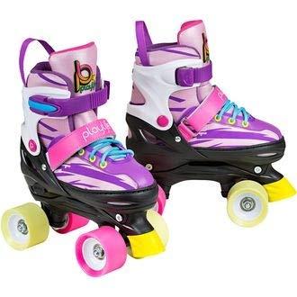 Playlife New Laja Adjustable Indoor/Outdoor Kids Quad Roller Skates (Euro 35-38)
