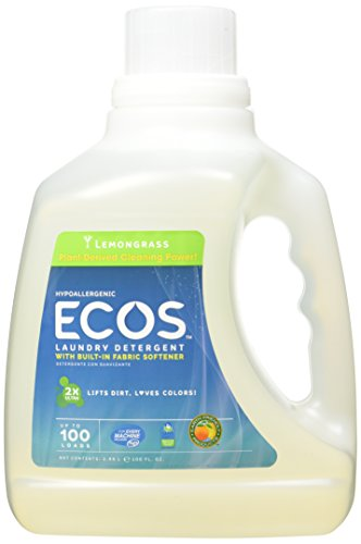 Earth Friendly Products Ecos Liquid Laundry Detergent, Lemongrass, 100 Ounce