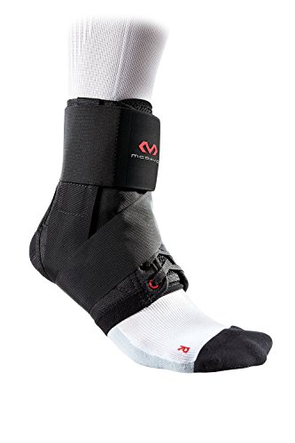 McDavid 195 Deluxe Ankle Brace with Strap (Black, Small)
