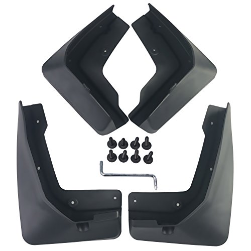 (biosp Auto Mud Flaps Splash Guards For Cadillac XT5 2017 2018 2019 Front and Rear Fender Cover PP-Custom Fit Black Molded 4Pcs Set )