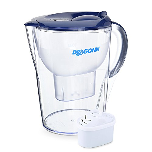 DRAGONN pH RESTORE Alkaline Water Pitcher - 3.5 Liters, Free Filter, 7 Stage Filteration System with LED Timer, Removes Lead, Chlorine, Copper and more, PH 8.5-9.5 Enhanced 2018 Model by DRAGONN