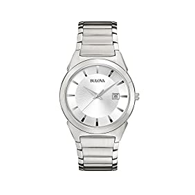 Bulova Men's Stainless Steel with Silver Dial Watch