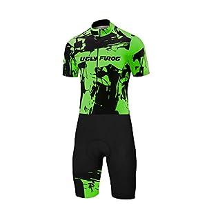 41239E 7 mL. SS300 Uglyfrog MUEN17 Nuovi Uomini Traspirante Primavera Autunno A Maniche Corta Ciclismo Body Skinsuit All'aperto Sportswear…