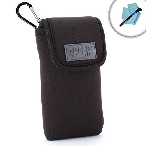 Dual Band Handheld Transceiver Travel Sleeve Pouch with Carrying Belt Loop and Carabiner Clip by USA Gear - Works With Baofeng BF-F8HP , UV-5R , UV-82C , BF-F8+ and More Radios by USA Gear