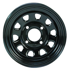ITP Delta Steel Black Wheel with Machined Finish (12x7''/4x110mm)