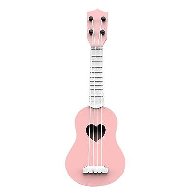 Aconka Ukulele Toy Ukulele for Beginners Ukulele Guitar for Kids Educational Musical Instrument Toy Mini Cute Ukulele (Pink): Sports & Outdoors