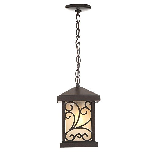 Progress Lighting Cypress Collection 1 Light Forged Bronze Hanging Lantern