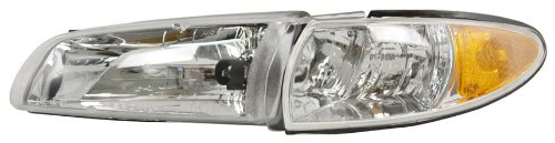 OE Replacement Pontiac Grand Prix Driver Side Headlight Assembly Composite (Partslink Number GM2502170)