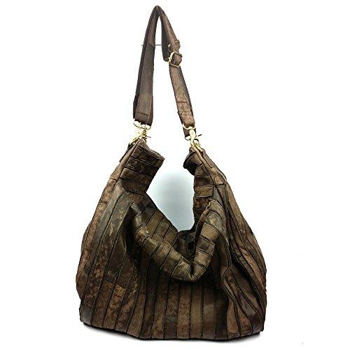 Bolsa de Dama cuero LongBao _2017 otoño e invierno nuevo estilo retro de cuero cabezal hembra capa marrón ,9226 mayorista hombro pegado Brown 9226