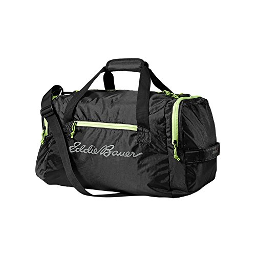 Eddie Bauer Unisex-Adult Stowaway 40L Packable Duffel, Black Regular ONESZE