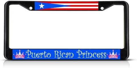 PUERTO RICAN RICO PRINCESS Metal License Plate Frame Tag Holder