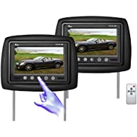Tview T721PL-BK Monitor Built in Car Headrest (Black)