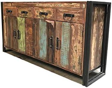 Timbergirl Old Reclaimed Wood 4 Door 4 Drawer Sideboard