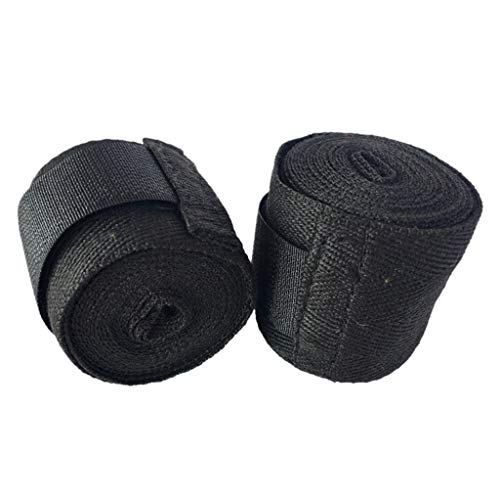 New!DEESEE(TM)2.5M Hand Wraps Boxing Wrist Bandages Strap Pad Glove Protection Stretch Fist Gl (Black)