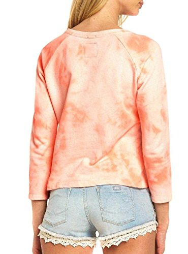 Sudadera Superdry Washed Coral Rosa