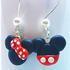 897caaf29b3ed Amazon.com: Christmas Disney Inspired Dangle Earrings Santa Mickey ...