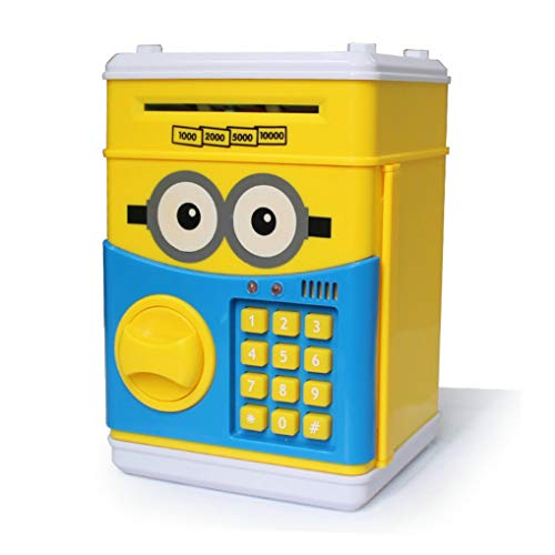 - GuDoQi Password Piggy Bank Digital Electronic Money Bank Mini ATM Cash Coin Saving Can Toys Birthday Gifts for Kids Yellow Blue