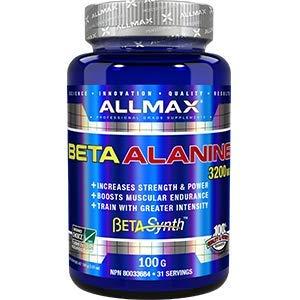 ALLMAX Nutrition 100% Pure Beta-Alanine 3200 mg, 100g