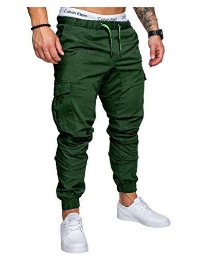 Pantalon Stretch homme Jogging loisir Vert Jueshanzj 7wApaqRvxn