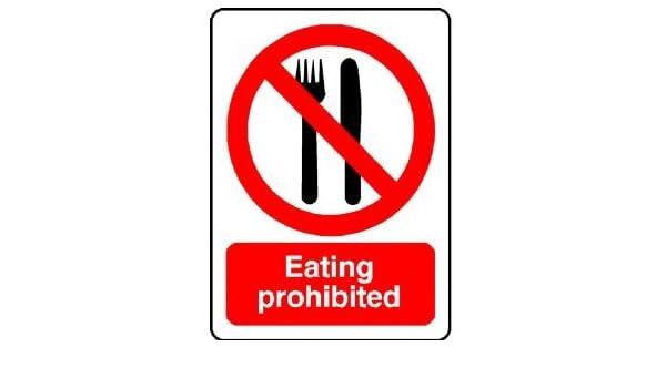 P1574 prohibido comer señal de seguridad de advertencia de ...