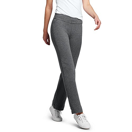 Lands' End Women's Petite Starfish Pants, M, Charcoal Heather (Jersey Knit Pants Stretch)