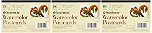 Strathmore Blank Watercolor Postcards pad of 15 (Package May Vary) (3)