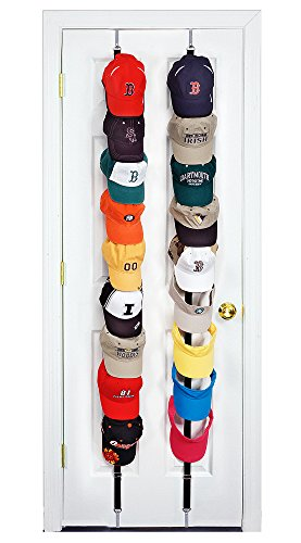 CapRack18 - Baseball Cap Holder (Black)