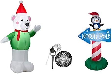 Hinchable oso polar 4 inflable, Polo Norte Sign 3, 5 blanco y de ...