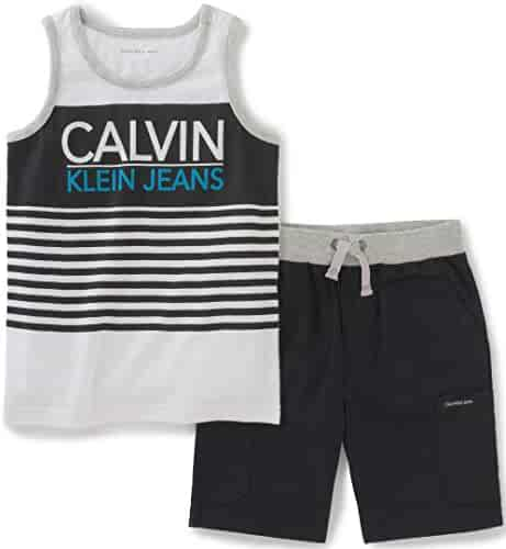 Calvin Klein Baby Boys' 2 Pieces Muscle Top Short Set