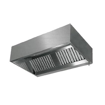 Custom Stainless Steel Kitchen Hood Double Skin Wall Type (Size : 2500x1000x500)