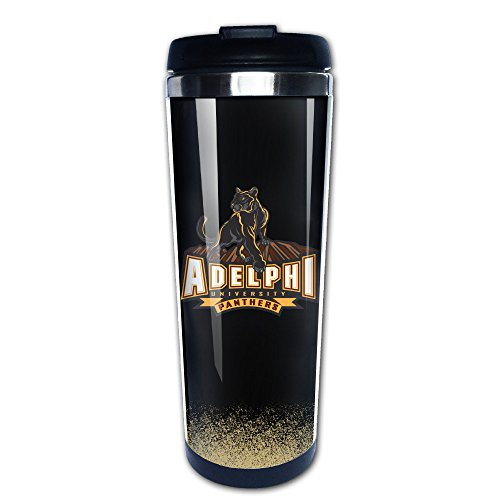 Adelphi University Panthers Stainless Steel Coffee Cups Coffee Bottle Black