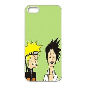Beavis y Butt Head Naruto Art 96,363 iPhone 5 5S caja del teléfono celular funda blanca del teléfono celular Funda Cubierta EEECBCAAH75430