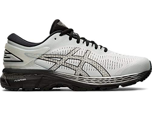 ASICS Men's Gel-Kayano 25 Running Shoes, 10.5M, Glacier Grey/Black (Running Shoes For Best)