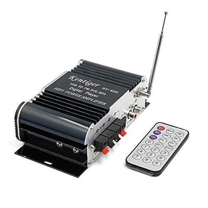 DealMux DC 12V USB SD FM Hi-Fi Amplificador de áudio estéreo Poder w controle