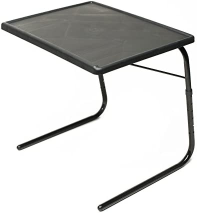 Table Mate XL TV Tray Extra Large Folding Table Adjustable to 6 Heights and 3 Angles for Eating, Laptop and Multipurpose Use Black