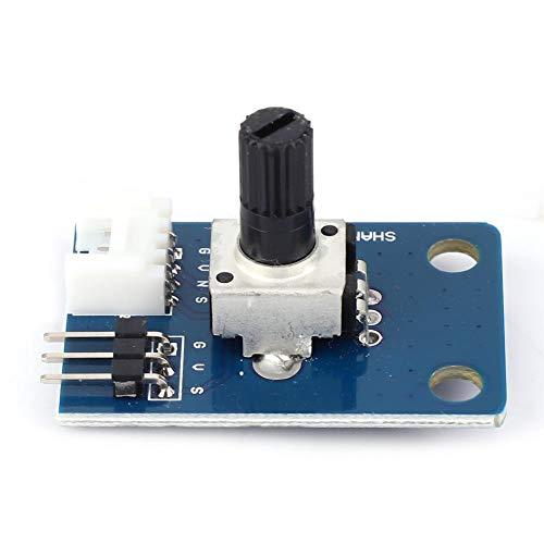 Potentiometer Module, 10K Ohm Rotary Encoder Module Brick Sensor Board with Knob Cap for Arduino UNO PIC AVR MCU DSP, Rotary Encoder Code Switch Digital Potentiometer Board