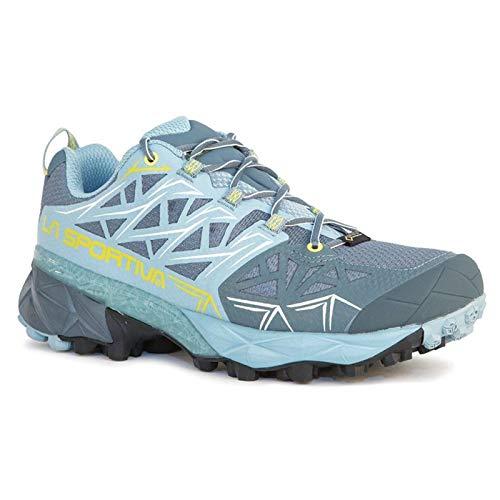 La Sportiva Akyra GTX Womens Mountain Running Shoe, Slate/Sulphur, 40.5