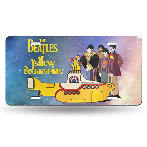 Elf Dance The Beatles Yellow Submarine Car Accessories Metal License Plate Frame (New) 12