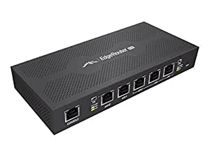 Ubiquiti Edgerouter PoE - Router - Desktop Wall-Mountable - Black (ERPOE-5)