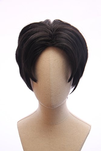 Price comparison product image Black Short Anime Cosplay Hunk Costume Wig Inspired by Voltron