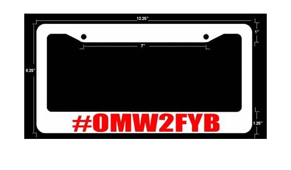 omw2fyb funny dope JDM License Plate Frame WHT FR RED ART