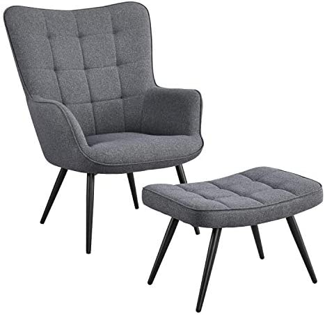 YAHEETECH Contemporary Accent Chair