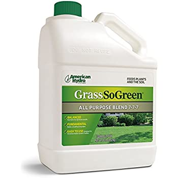Grass So Green 7-7-7 F4G Formula is an Environmentally-Friendly Liquid  Fertilizer that is Applied Through an American Hydro Systems Feeder System  in