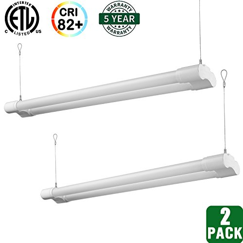 Hykolity Utility LED Shop Light, 4FT Integrated Garage Lights, 36W (100W Equivalent), 3600 Lumens, 5000K Daylight White, Integrated Switch, Pack of 2 by hykolity