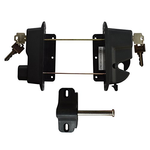 Keystone Black Nylon Polymer Key-Lockable Latch | 2 Sided | Keyed Alike | KLADV-P2-BK-KA (Key Lock Straight Gate)