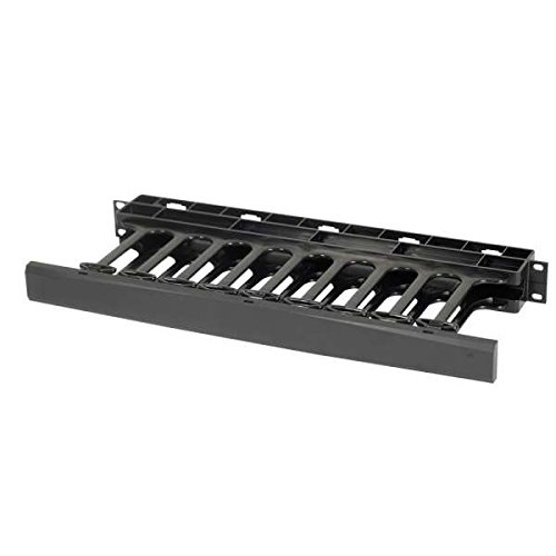C2G/Cables to Go 14596 1U Single-Sided Horizontal Cable Management Panel, TAA Compliant