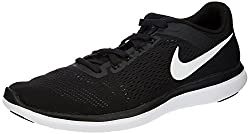 Nike Mens Flex 2016 Rn Running Shoe Black/White/Cool Grey 14