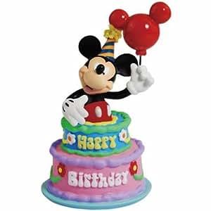 Amazon Com Disney Mickey Mouse Figurine Inside Happy